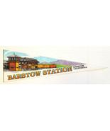 """Vtg BARSTOW STATION CA Pennant-Felt-24.5""""-Triangle Flag Banner-White-McD... - $28.04"""