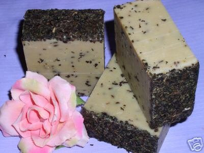 Primary image for PEPPERMINT GOATS MILK SHEA BUTTER SOAP Natural Handmade