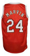 Marvin Barnes #24 Spirits of St Louis Aba Basketball Jersey Sewn Orange Any Size image 2