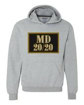 MD 20 20 wine Hoodie retro style distressed print grey graphic sweatshirt image 1
