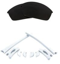 Replacement Lenses Kit for Oakley Flak Jacket Black Iridium White Anti-Scratch - $20.69