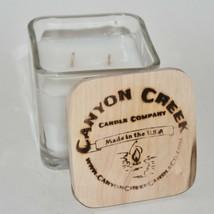 New Canyon Creek Candle Company 9oz Cube Jar Eucalyptus & Bergamot Handmade - $22.94