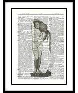 Artistic Nude Water Jug Carrier Dictionary Art Print Mixed Media Art lad... - $10.99