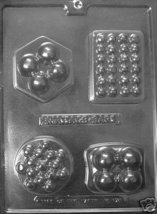 4 Assorted Massage Bar Mold Melt And Pour Soap & Lotion - $3.75