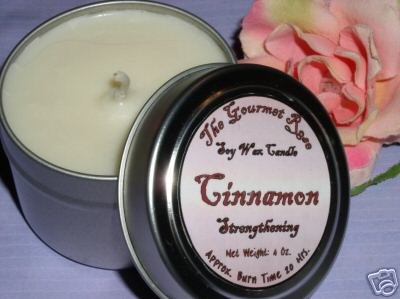 Primary image for 4 oz CINNAMON SOY CANDLE TIN 100% All Natural 20 HOUR