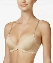 Calvin Klein Seductive Comfort Lace Demi Bra QF1444 Bare- Nude 01 Size 34D Nwt - $19.00
