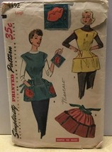 Simplicity Cobblers Half Apron Sewing Pattern 4492 Flower Transfers Vtg ... - $9.79