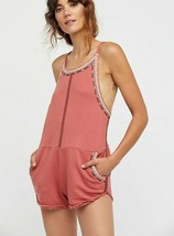 New Free People FP ONE Lou Romper Retail $98  Red Size XS, S, M - ₹3,015.08 INR