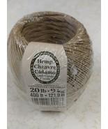 Natural Hemp Twine Cord 400 ft Roll, 20lb - $5.87