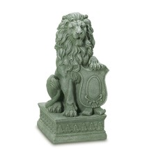 Lion Statue Outdoor, Poly Resin Fiberglass Garden Statues Lion - Guardia... - $132.33