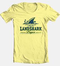 Landshark Beer T shirt beer 100% cotton graphic tee bar pub beach surf fishing image 1