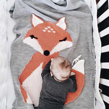 Baby Blanket Newborn 2017 Fox Knitting Blanket Bedding Quilt For Bed
