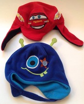 Toddler Boys Winter Hat Lot of 2 Cars & Monster - $6.88
