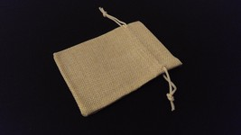 10pc CREAM Burlap Cloth Drawstring Gift Bags Party Wedding Favors 9X12CM - $10.00