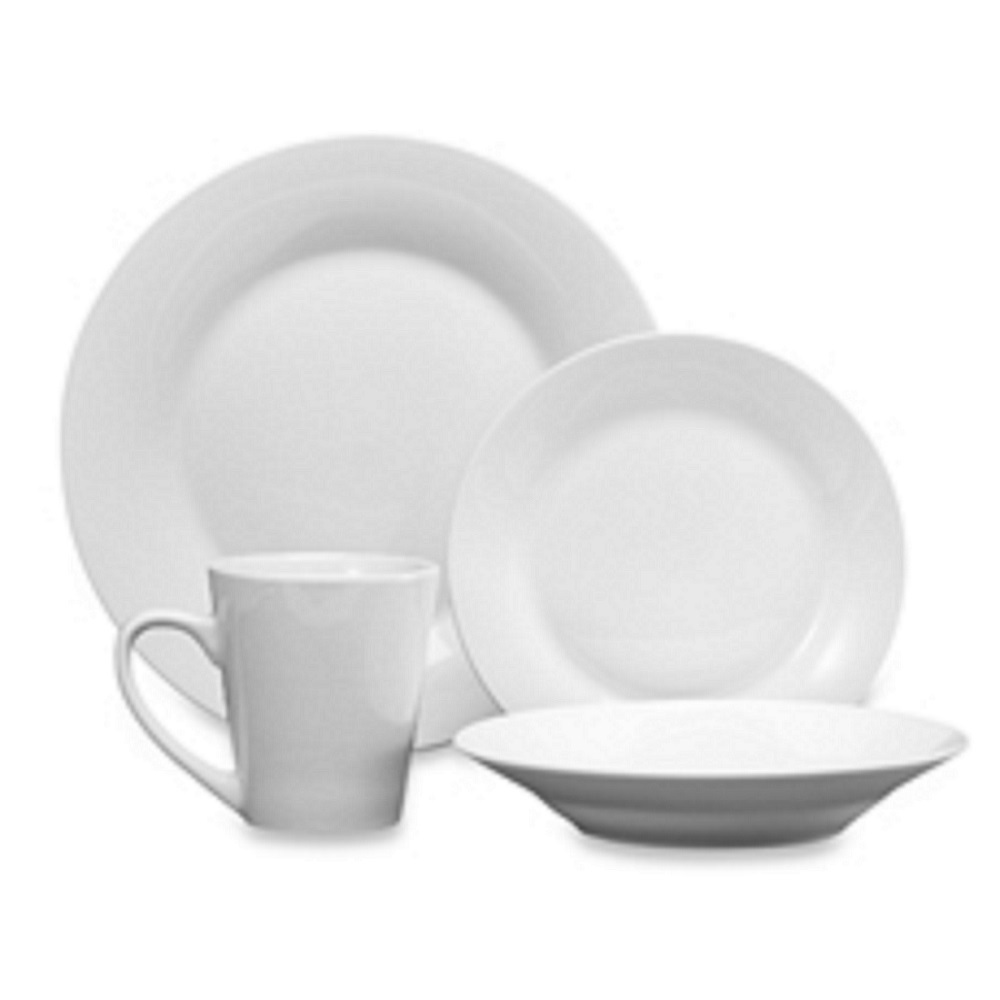 studio white 48 piece fine porcelain china dinnerware set service for