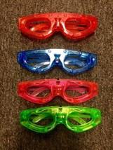 60 pcs Light-Up LED Flashing Shutter Retro Glasses Rockstar Rave Party S... - $55.15