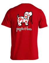 Puppie Love Rescue Dog Men Women Short Sleeve Graphic T-Shirt, Kisses Pup