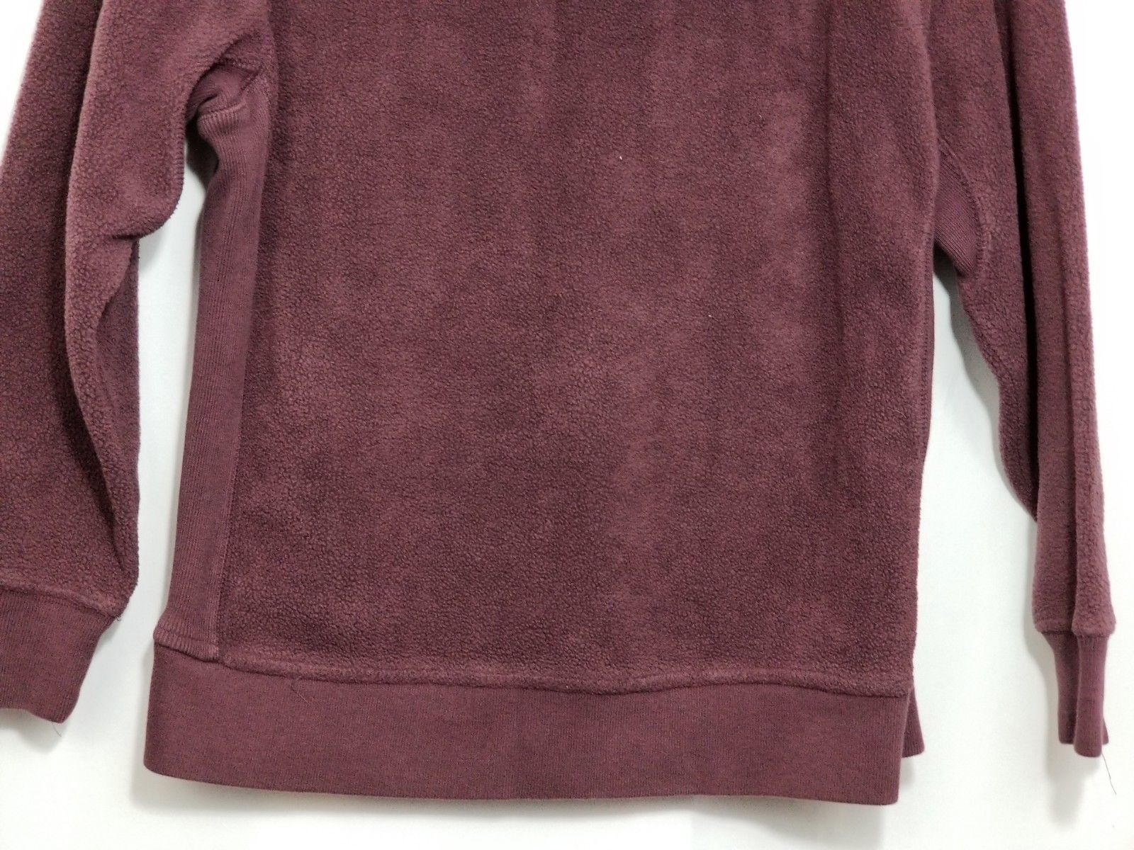 Gap Kids XL 12 Fleece Hoodie Jacket Burgundy Red LS