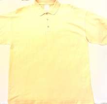 Gildan Yellow Polo Shirt - Men's Small - $12.50