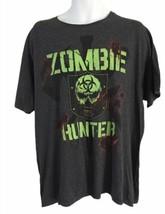 Men's T-shirt,Zombie Hunter,Size XL,Gray ,Short Sleeve,Graphic Tee,Women  - $15.85
