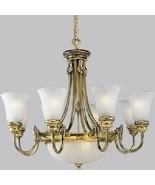 Victorian-era Details Antiqued Patina Finish Brass Chandelier Light P411... - $1,153.05
