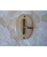 Antique Mother of Pearl ~ Shell Buckle ~ Oval - $9.00