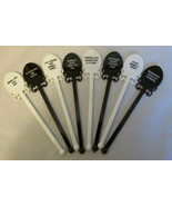 Vintage Swizzle Sticks with Rude & Goofy Sayings - Four Each of Black an... - €9,16 EUR