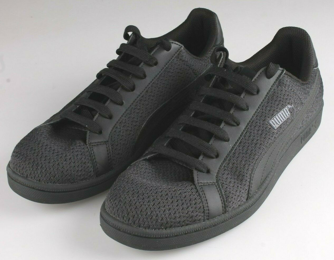 PUMA Men's Smash Knit C Black Casual Athletic Sneakers Gym Shoes