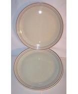 Lambeth Stoneware Royal Doulton Nutmeg 2 Dinner Plates Pair 10-3/8 Inch ... - $34.46
