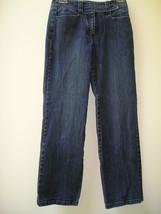 Talbots Petites 4 P  Cotton Stretch Blue Denim Jeans 26 27 X 29 Euc - $11.00