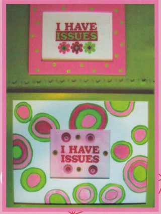 Button Pack for I Have Issues cross stitch chart Amy Bruecken Designs