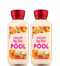 BATH & BODY WORKS Sunset By The Pool 8.0 Fluid Ounces Body Lotion Duo Set  - $25.63