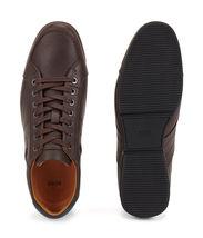 Hugo Boss Men's Premium Sport Leather Sneakers Shoes Saturn Lowp Dark Brown (7) image 4