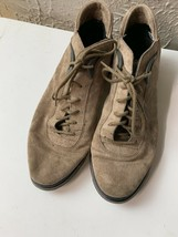 Boks Reebok Womans Rust Tan Suede Leather LACE-UP Ankle Boots Shoes Size 9 - $18.65