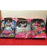 Mattel Barbie Dolls Happy Birthday, Sleeping Beauty, Blossom Beauty with... - $30.00