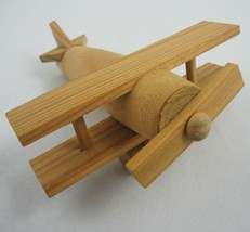 """Natural Wood Bi-Plane Toy Airplane Sopwith Camel Unfinished Unpainted 4""""... - $8.90"""