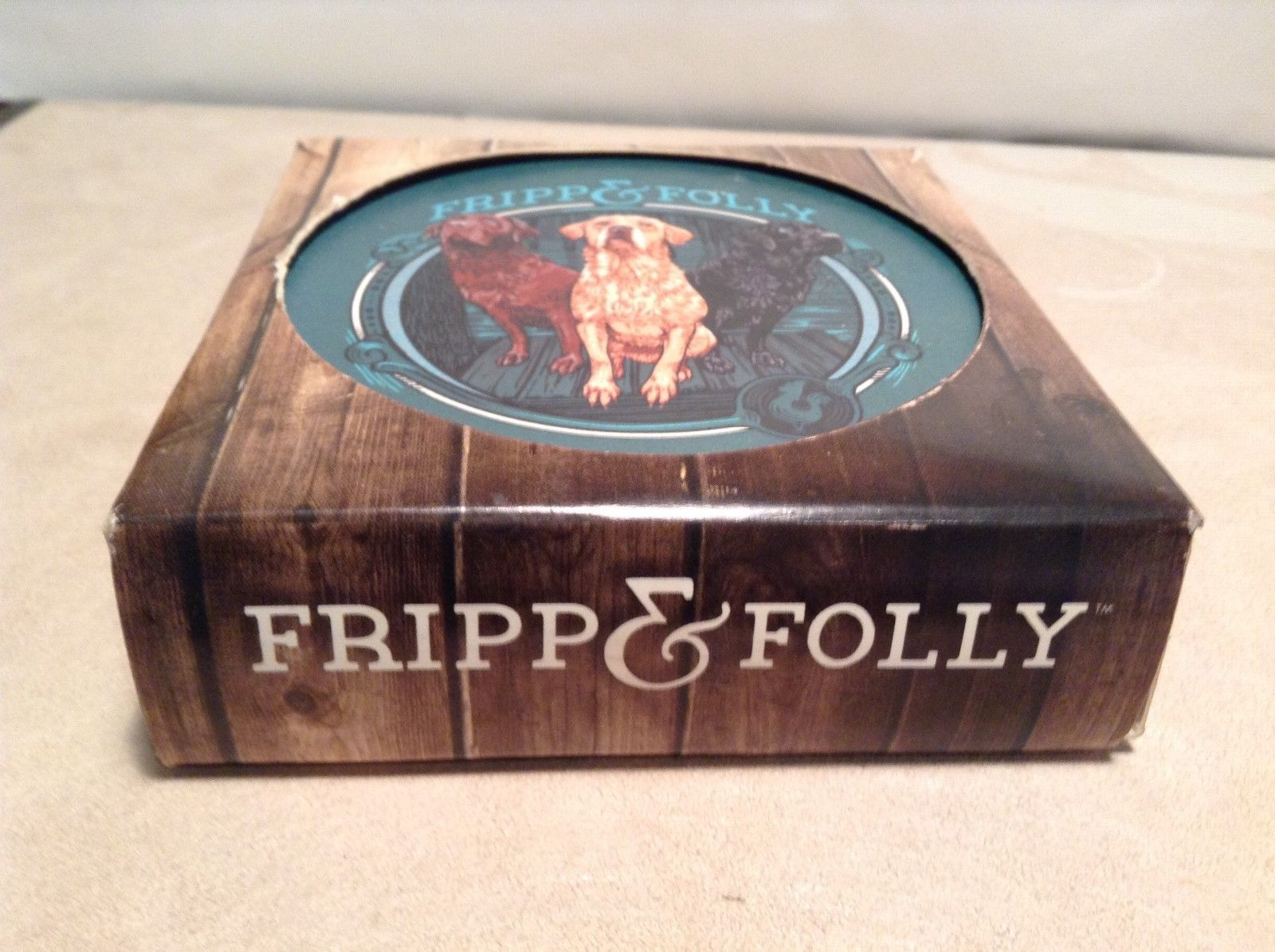NEW Fripp and Folly Dog/Bay Themed Coaster Set
