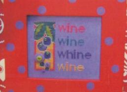Button Pack for Whine cross stitch chart Amy Bruecken Designs