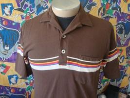 Vintage 80's Hobie Rainbow Stripe Surf Polo Shirt M  - $123.74
