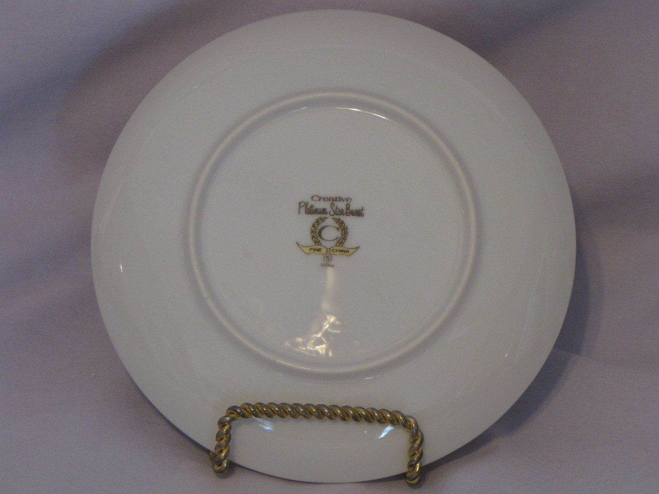 Creative China Platinum Star Burst Bread Plate
