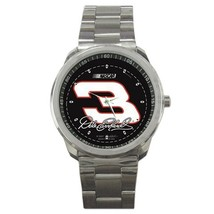 NASCAR Dale Earnhardt Logo Custom Sport Metal Men Watch  - $15.00