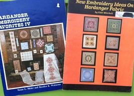 Hardanger Embroidery Favorites IV Pattern Book Lot - Doily Bell pull - N... - $29.70