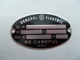 21 General Electric Name Tags Motor Meter Label... - $23.96