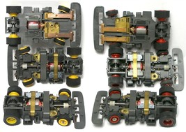 6pc 1991 Tyco Tcr Slot Less Car Wide Chassis Red & Yellow Wheels Unused Nice! A+ - $44.54