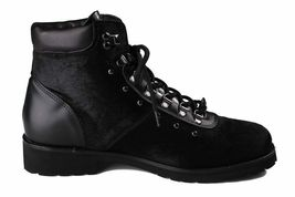 Versace Collection Black Pony Hair Lace Up Mountain Boots V900393 NIB image 4