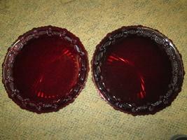 "2 Avon Cape Cod Ruby Red Plates 10 1/2"" Diameter - $9.99"