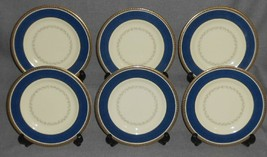 Set (6) Royal Doulton Archives CHALLINOR PATTERN Dessert - B&B Plates EN... - $178.19