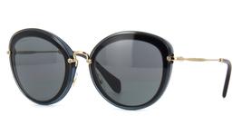 Miu Miu Sunglasses MU50RS 1AB9K1 54 Grey/Black Frame | Grey/Blue Lens - $93.05