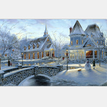 Art Oil Painting DIY Coloring Acrylic knits Sow House 40*50 No Frame - $27.99+