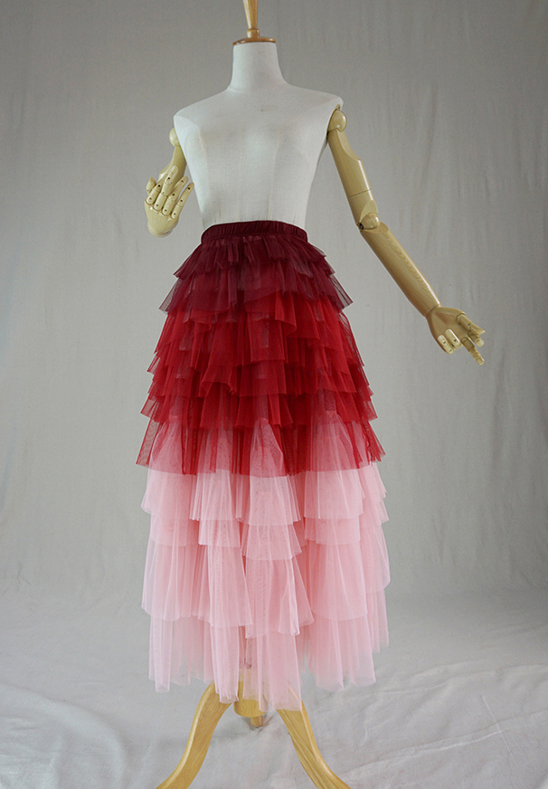Tier long tulle skirt 4